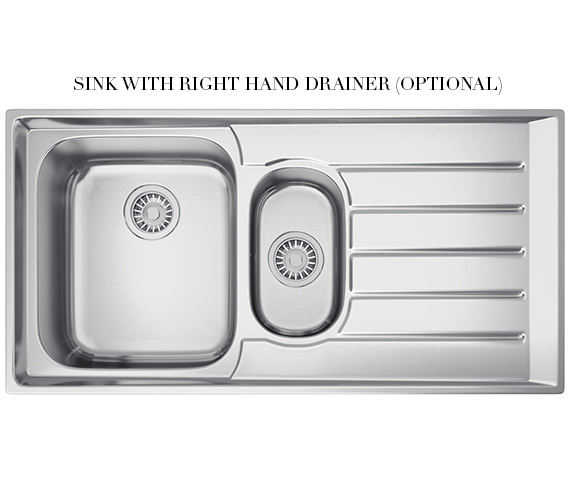 Additional image of Franke Neptune NEX 251 Stainless Steel 1.5 Bowl Kitchen Inset Sink