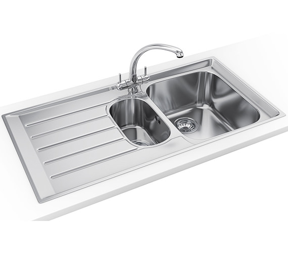 Franke Neptune Propack NEX 251 Stainless Steel Kitchen Sink And Tap