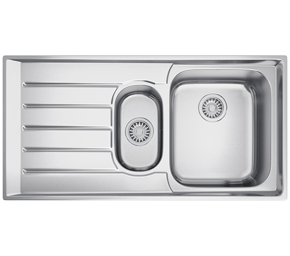 Franke Neptune NEX 251 Stainless Steel 1.5 Bowl Kitchen Inset Sink