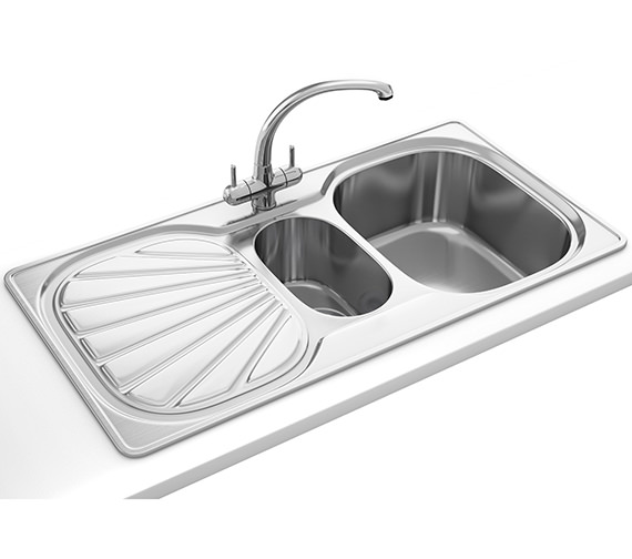 Franke Erica Propack EUX 651 Stainless Steel Kitchen Sink And Tap