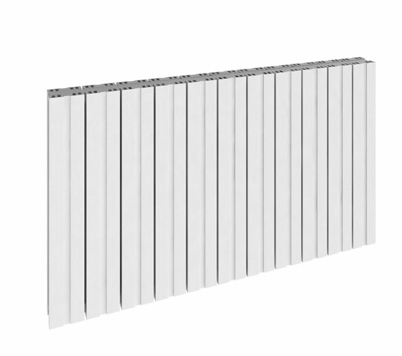 Reina Bova Double Horizontal Aluminium Radiator 660 x 600mm