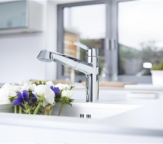 Grohe Eurodisc Cosmopolitan Low Spout Mono Sink Mixer Tap - 32257002