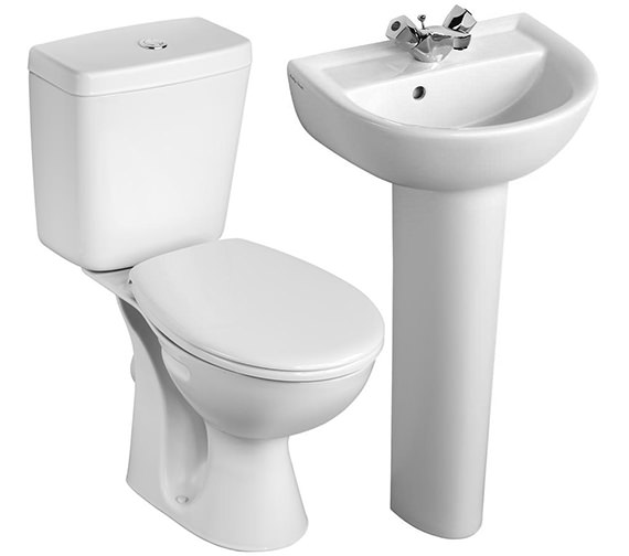 Armitage Shanks Sandringham 21 Toilet And 1 Taphole Basin To Go Box Pack