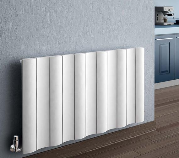 Reina Gio Horizontal Double Panel Aluminium Radiator 660 x 600mm