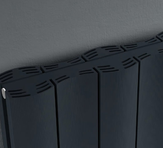 Alternate image of Reina Gio Horizontal Double Panel Aluminium Radiator 660 x 600mm