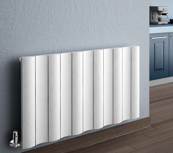 Reina Gio Horizontal Double Panel Aluminium Radiator 470 x 600mm