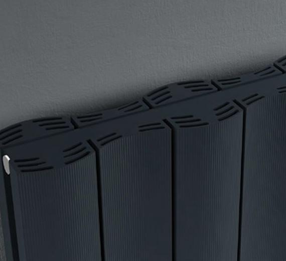 Alternate image of Reina Gio Horizontal Double Panel Aluminium Radiator 470 x 600mm