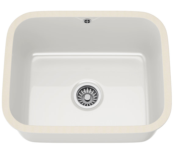 Franke V And B VBK 110 50 Ceramic 1.0 Bowl White Undermount Kitchen Sink