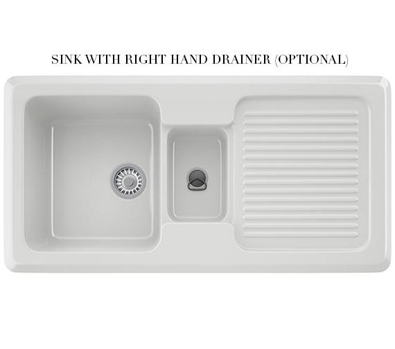 Alternate image of Franke V And B Designer Pack VBK 651 Ceramic White Kitchen Sink And Tap