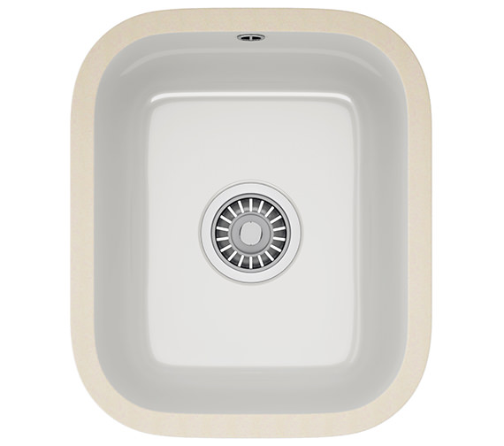 Franke V And B VBK 110 33 Ceramic 1.0 Bowl White Undermount Kitchen Sink