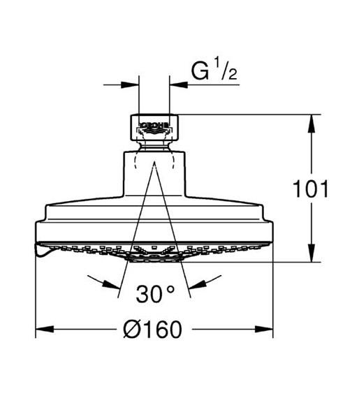 Technical drawing QS-V61318 / 27134000