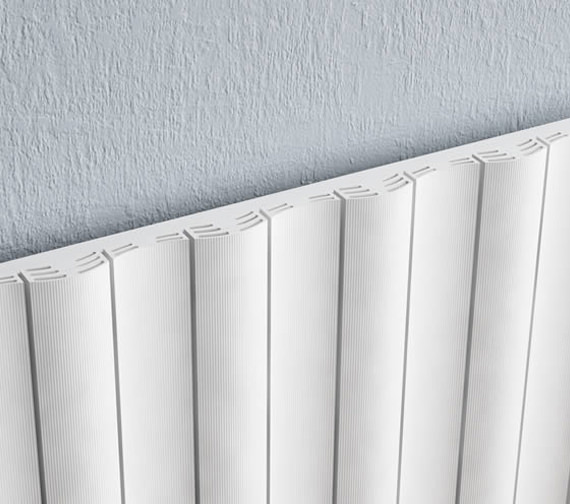 Additional image of Reina Gio Horizontal Single Panel Aluminium Radiator 1040 x 600mm