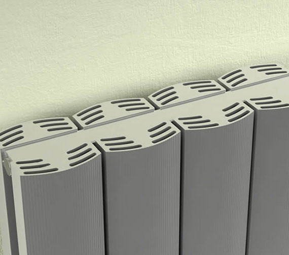 Additional image of Reina Greco Vertical Double Aluminium Radiator 375 x 1800mm