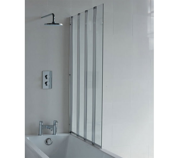 Cleargreen Four Fold Hinged Bathscreen Right Handed