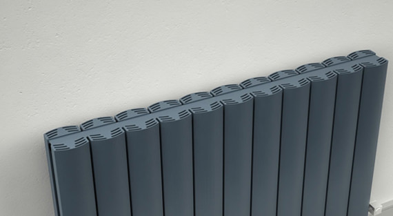 Additional image of Reina Greco Double Panel Horizontal Radiator 660 x 600mm