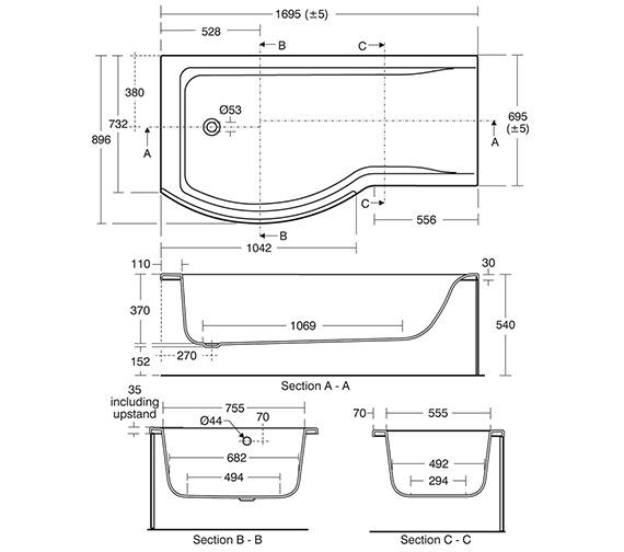 Technical drawing QS-V3264 / E704401