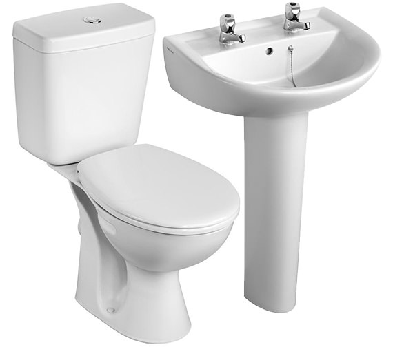 Armitage Shanks Sandringham 21 Toilet And 2 Taphole Basin To Go Box Pack -  S049401
