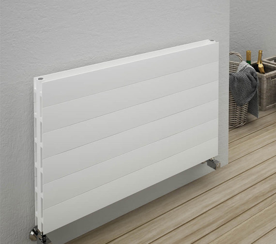 Additional image of Reina Veno Double Panel Aluminium Radiator 800 x 605mm - A-VN080WD