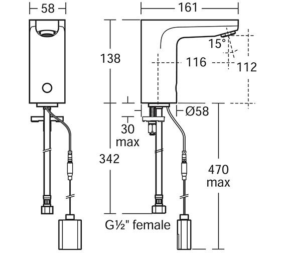Technical drawing QS-V10667 / A6160AA