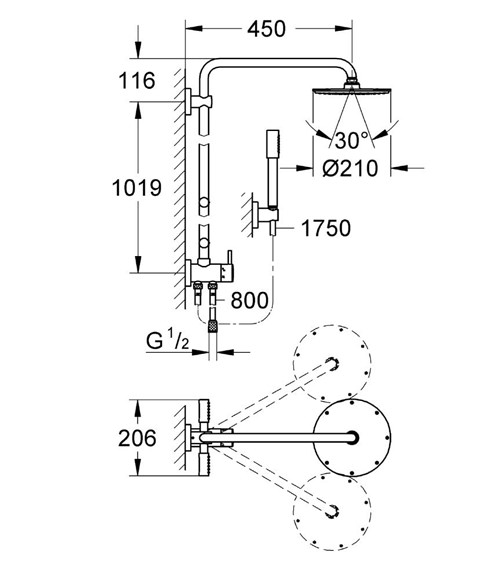 Technical drawing QS-V61252 / 27361000