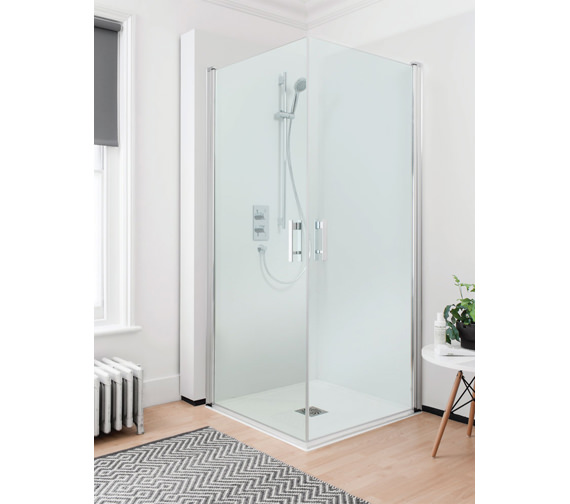 Simpsons Click Easy Access Double Hinged Door 900mm - NCESC0900