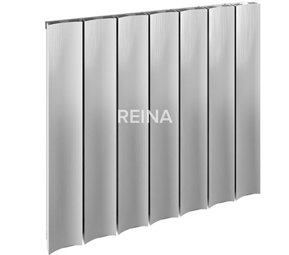 Reina Luca Polished Horizontal Single Panel Radiator 1230 x 600mm
