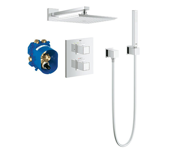 Grohe Grohtherm Cube Thermostatic Concealed Shower Bundle - 34506000