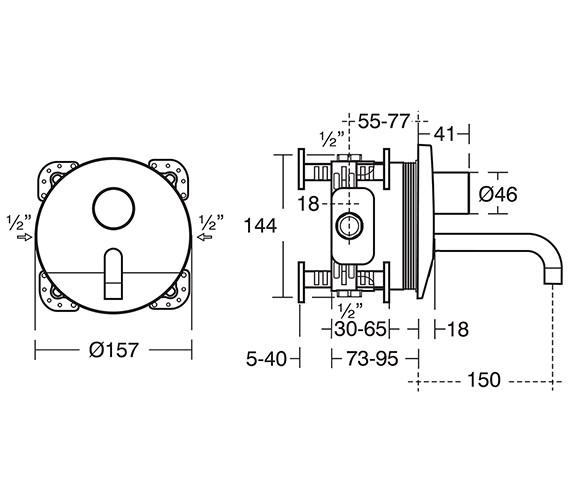 Technical drawing QS-V10671 / A6166AA