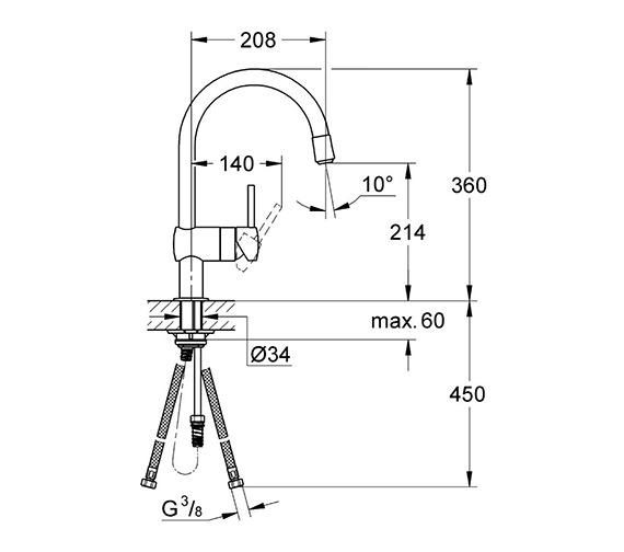Technical drawing QS-V28610 / 32918000