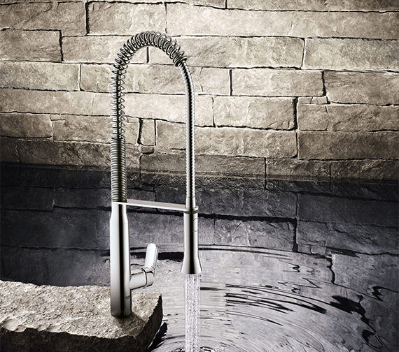 Additional image of Grohe K7 Mono Kitchen Sink Mixer Tap With Metal Lever