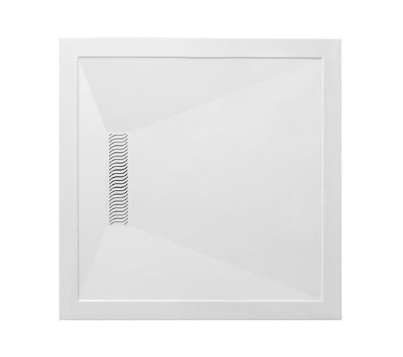 Simpsons 900mm Square Shower Tray With Linear Waste - LN000S900