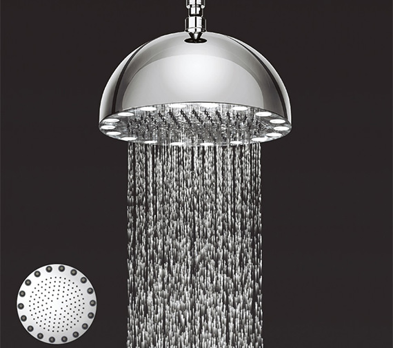 Crosswater Dynamo 300mm Illuminated Fixed Shower Head With Arm