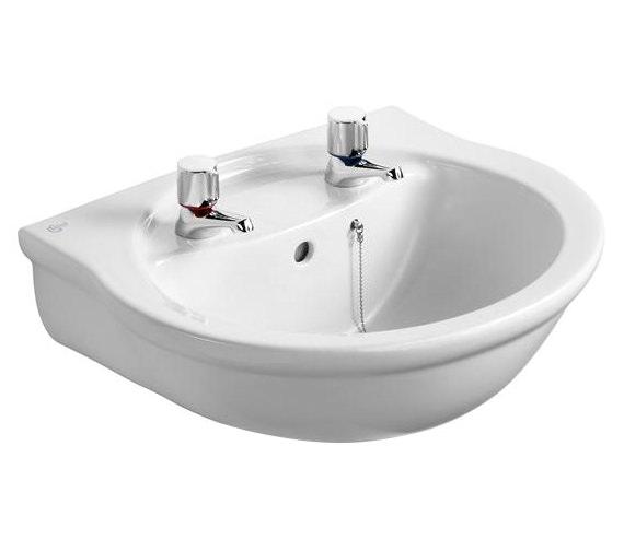 Ideal Standard Alto 550mm 2 Taphole Washbasin -  E745601