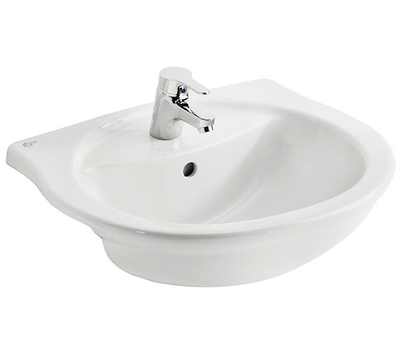 Ideal Standard Alto 550mm 1 Taphole Semi-Countertop Washbasin
