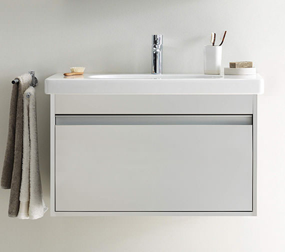 Duravit Ketho 465mm Depth Wall Mounted 1 Pull Out Compartment Vanity Unit