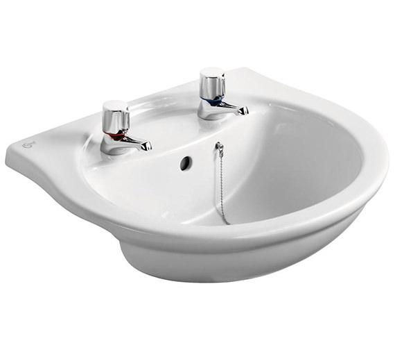 Ideal Standard Alto 550mm 2 Taphole Semi-Countertop Washbasin