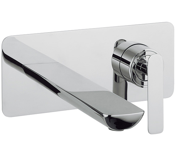 Crosswater Silk Wall Mounted 2 Hole Basin Mixer Tap Set -SI121WNC