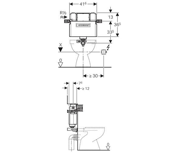 Technical drawing QS-V63301 / 109.205.00.1