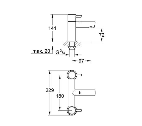 Technical drawing QS-V58246 / 25102000