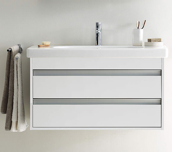 Duravit Ketho 1000mm 2 Drawers Unit With 1050mm Starck 3 Basin