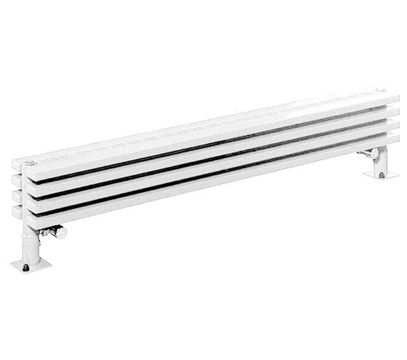 Apollo Bassano 255mm Height White Low Level Floor Standing
