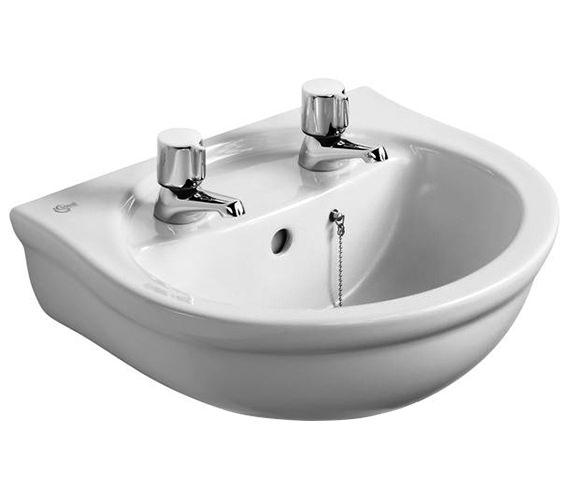 Ideal Standard Alto 450mm 2 Taphole Handrinse Washbasin - E742601