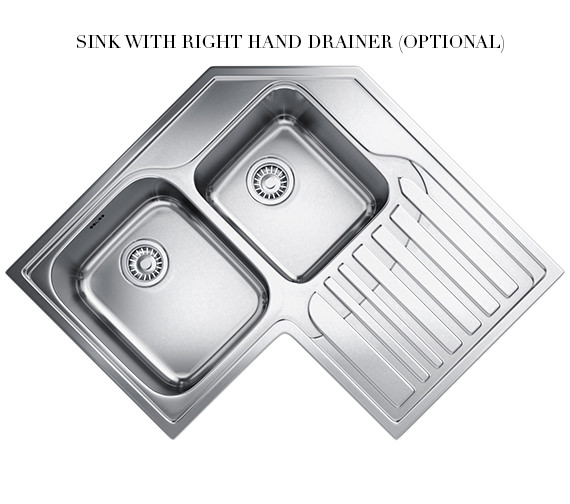 Additional image of Franke Studio STX 621-E Stainless Steel Corner Inset Sink