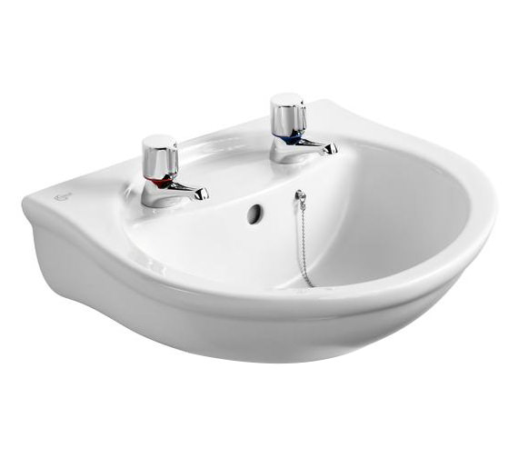 Ideal Standard Alto 500mm 2 Taphole Washbasin With Overflow