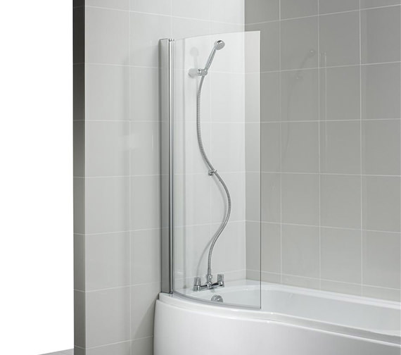 Ideal Standard Alto 813 - 828 x 1419mm Curved Shower Bath Screen
