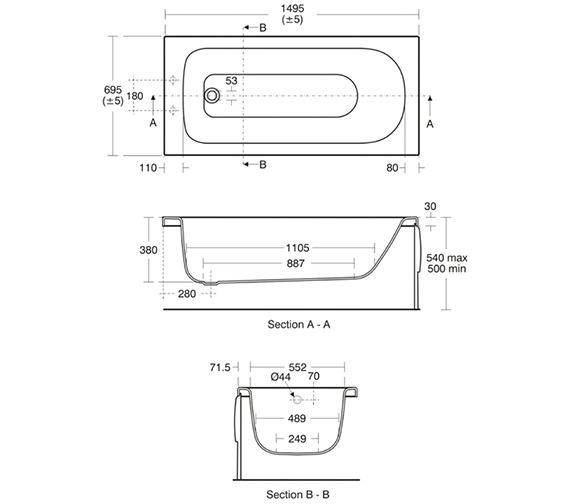 Technical drawing QS-V3332 / E761901