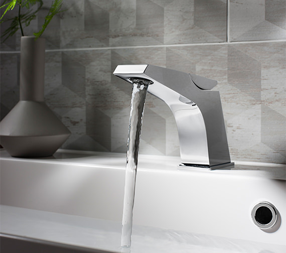 Alternate image of Crosswater Wedge Monobloc Basin Mixer Tap - WD110DNC