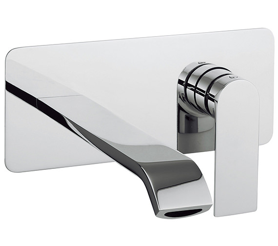 Crosswater Dune Wall Mounted 2 Hole Basin Mixer Tap Set -DN121WNC
