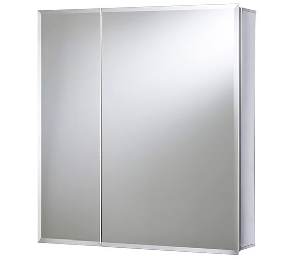 Croydex Newton Double Door Bi-View Aluminium Cabinet - WC102069