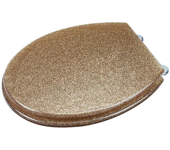 Croydex Glitter Gold Toilet Seat